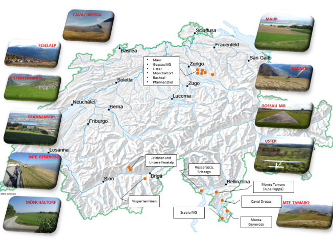Locations Switzerland